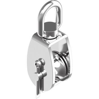 Block mit Edelstahlrolle,Sinterbronze-Buchse - A2 Typ A Rolle H= 25 mm