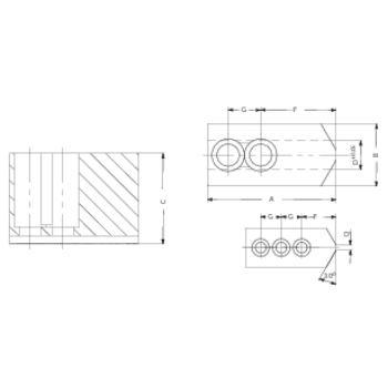 Aufsatzbacken, Größe 400-800, 3-Backen-Satz, härtbar Spitzverzahnung 90°
