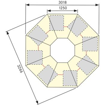 Gruppenwerkbank 802 VG B x Länge x H 3.018 x