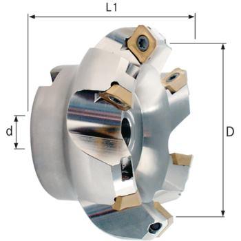 Planfräser 45 Grad 80 mm Z=6 für SEET/SEEW 1204