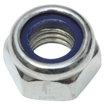 Sechskant-Stoppmuttern DIN 985 Stahl verzinkt M5 100 St.