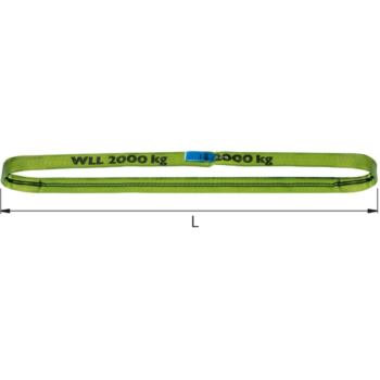Rundschlinge 2000 kg Traglast- 6 m Umfang, zweilagig