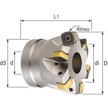 Multi-Hochvorschubfräser Durchmesser 80 mm Z=8
