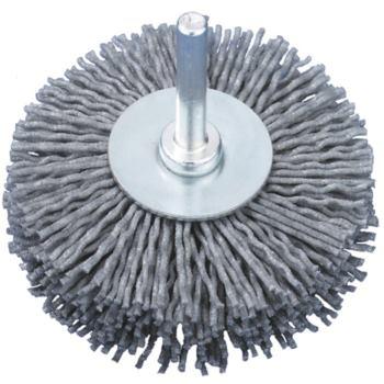 Rundbürste Durchmesser 70 mm, Schaft 6 mm SIC-Drah t 0,55 mm Korn 320