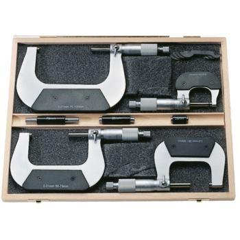 Bügelmessschrauben 0 - 150 mm im Etui mit Einstel
