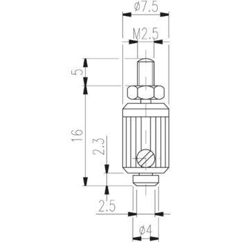 Messeinsatz Typ TN 80 W hartmetallbestückt
