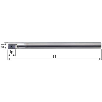 Halter für Gewindefräsplatten WSP HM einfach Durch m.12 Schaft-Durchm.8HA