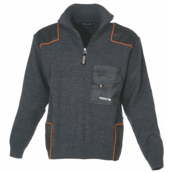 Troyer dunkelgrau, schwarz/orange Gr. L
