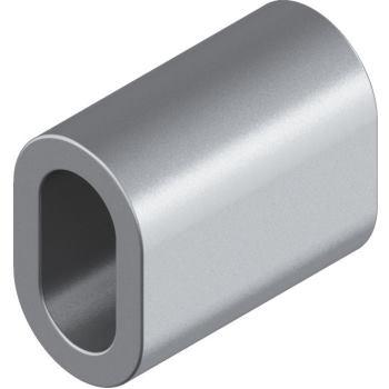 Pressmuffe D= 2 mm, Kupfer vernickelt