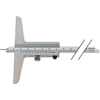 Tiefenmessschieber Schieblehre INOX 200 mm mattverchromt