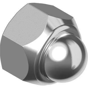 Sechskant-Sicherungs-Hutmuttern DIN 986 A2 nichtmetall-Klemmteil M 6