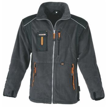 Fleecejacke grau/orange Gr. XXXL
