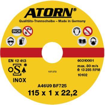 Trennscheibe für Edelstahl 115x1,0x22 mm INOX-Sche ibe
