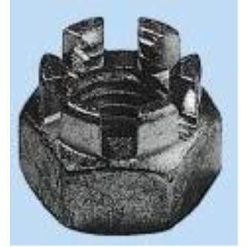 Kronenmutter niedrige Form DIN 937 Stahl blank M48 10 Stück