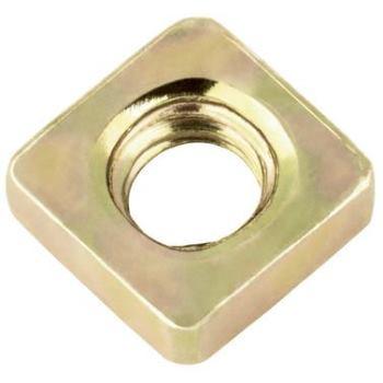 Vierkantmutter niedrige Form DIN 562 Stahl 04 gelbverzinkt M3,5 1000 Stück