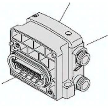 VVQC4000-3A-2F-X45 SMC Endplatte