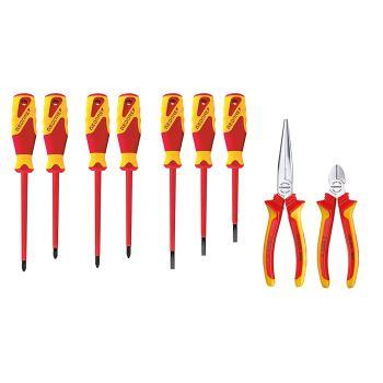 Zangen/Schraubendreher-VDE-Sortiment für Werkzeugk arte ET-1100 W