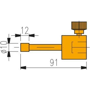 Messeinsatz mit zylindrischer Messfläche 10 mm