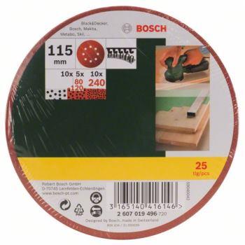 Schleifblatt-Set für Exzenterschleifer, 25-teilig,