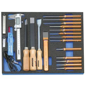 Werkzeugsortiment in 2/4 CT-Modul, 22-tlg