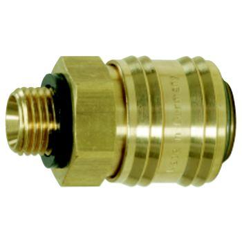 Messing-Kupplung mit Außengewinde, 22x8mm 515.3480