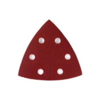 Dreieck-Schleifpapier-Klettfix 93 x 93m DT3091 ocht (6 Loch ringförmig)