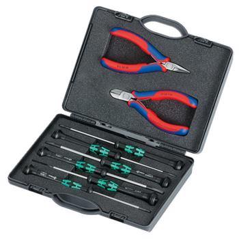 Elektronikzangen-Set mit Werkzeugen für Arbeiten a n elektronischen Bauteilen