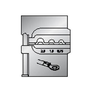 Modul-Einsatz für unisolierte Kabelschuhe 0,75/1,5 /2,5