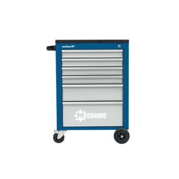 Werkstattwagen MECHANIC, 6 Schubladen, blau/lichtg rau