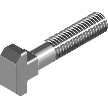 Hammerkopfschrauben DIN 186 -Form B -Edelstahl A4 m. Vierkant B M12x100