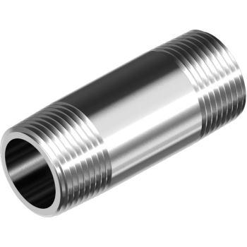 "Rohrdoppelnippel DIN 2982-R - Edelstahl A4 R 1/2"""