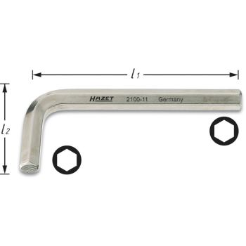 Winkelschraubendreher 2100-11 · s: 11 mm· Innen-Sechskant Profil