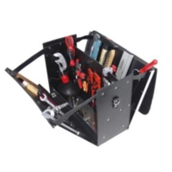 Ledertasche 6-L2, komplett, mit Sanitär-Bau-Werkze ugpaket 6, 24-teilig