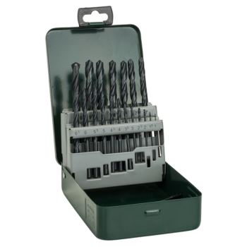 Metallbohrer-Set HSS-R, 19-teilig