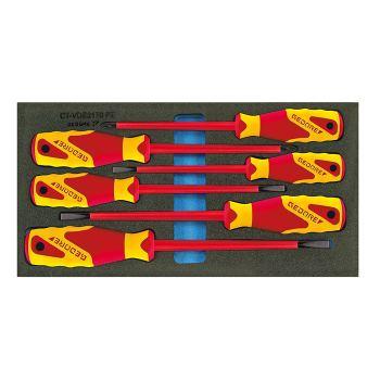 VDE-Schraubendreher in Check-Tool-Einlage