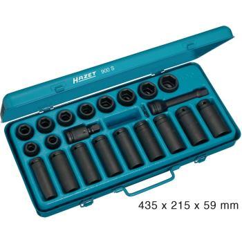 Kraft-6kt.-Steckschlüssel-Satz 900S · 4kt. Hohl12,5 mm (1/2 Zoll) · Außen-6kt.-Tractionsprofil