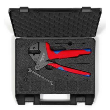 Crimpzange PEW12 ohne Einsatz im Koffer