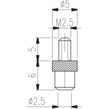 Messeinsatz Typ TN 70 W hartmetallbestückt
