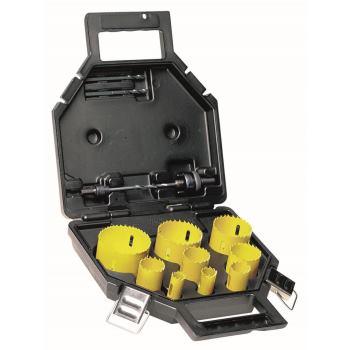 13-tlg. Universal BI-Metall Lochsägen-S DT8104 koffer (2x Adapter, 2x Zentrierbohrer, 9 Lochsägen