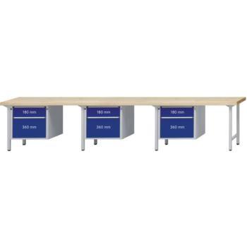 Kombi-Werkbank Mod. 741 V Platte Buche-Massiv