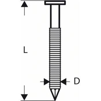 Rundkopf-Streifennagel SN21RK 90RHG 3,1 mm, 90 mm,
