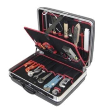 Hartschalenkoffer 6-H2, komplett, mit Sanitär-Bau- Werkzeugpaket 6, 24-teilig