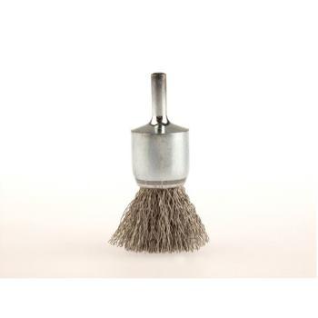 Pinselbürsten mit 6 mm Schaft Drm 30 mm lang 68 mm Stahldraht rostfrei ROF gew. 0,30 mm hoch 25