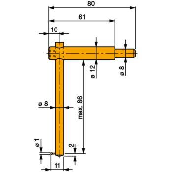 Messeinsatz Stahl gehärtet mit verstellbarem