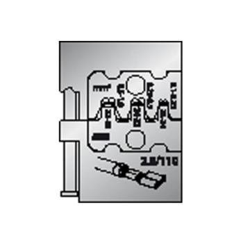 Modul-Einsatz für Flachsteckhülsen 2,8
