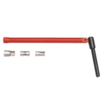 Standhahnschlüssel, rot lackiert