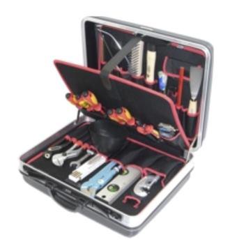 Hartschalenkoffer 8-H2, komplett, mit Sanitär-Azub i-Werkzeugpaket 8, 23-teilig