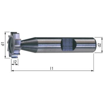 Schlitzfräser HSSE5 DIN 850 geradegezahnt 6x11 (2