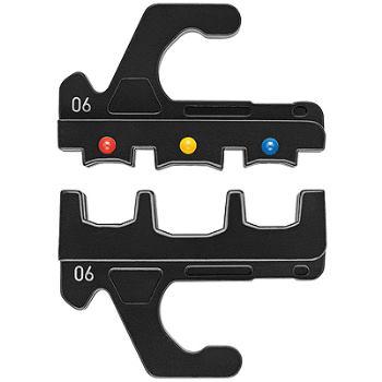 Crimpeinsatz für isolierte Kabelschuhe, Steckverbi nder + Stoßverbinder mm