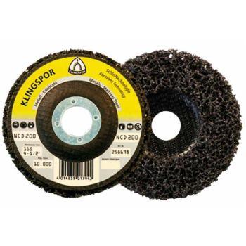 Reinigungsscheibe, NCD 200,Abm.: 125x22,23 Form: gerade, Korn: SiC